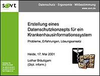 Datenschutzkonzept für ein Krankenhaus-Informationssystem