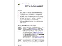 Beurteilung Software-Ergonomie mit Isonor-Fragebogen