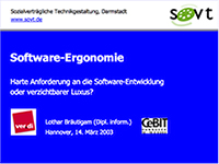 Software-Ergonomie (Vortrag Cebit 2003)