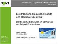 Datenschutz und elektronische Gesundheitskarte